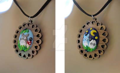 Day and Night Totoro Necklaces