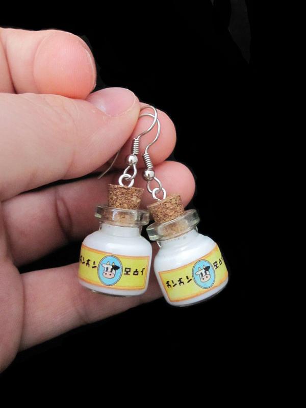Lon Lon Milk Bottle Earrings by egyptianruin
