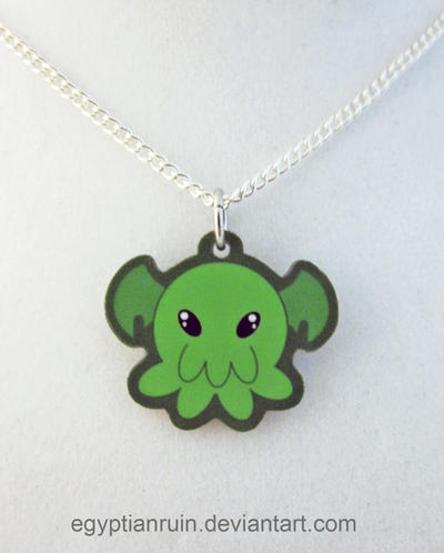 Clthulu Octopus Necklace by egyptianruin