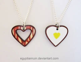 Bacon and Eggs BFF Necklace Set