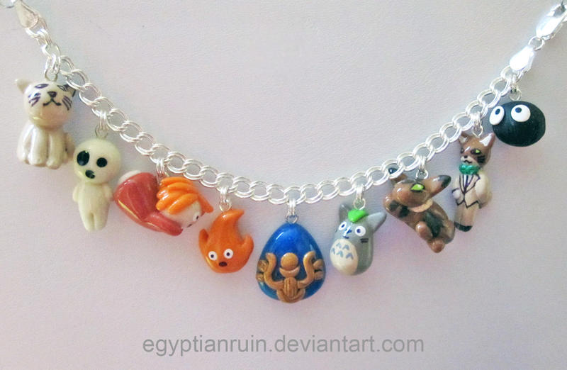 Studio Ghibli Charm Bracelet Round 2 by egyptianruin