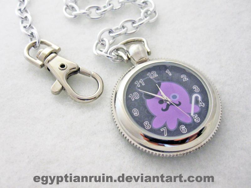 Gentleman Octopus Pocket Watch by egyptianruin