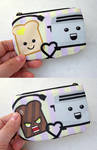 Happy Toast Angry Toast Coin Purse