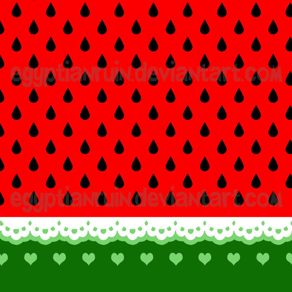 Watermelon and Lace Umbrella Design by egyptianruin