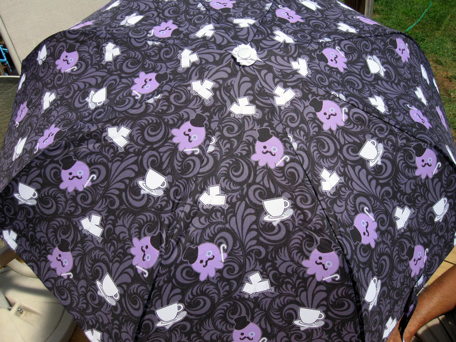 Gentleman Tea Party Umbrella by egyptianruin