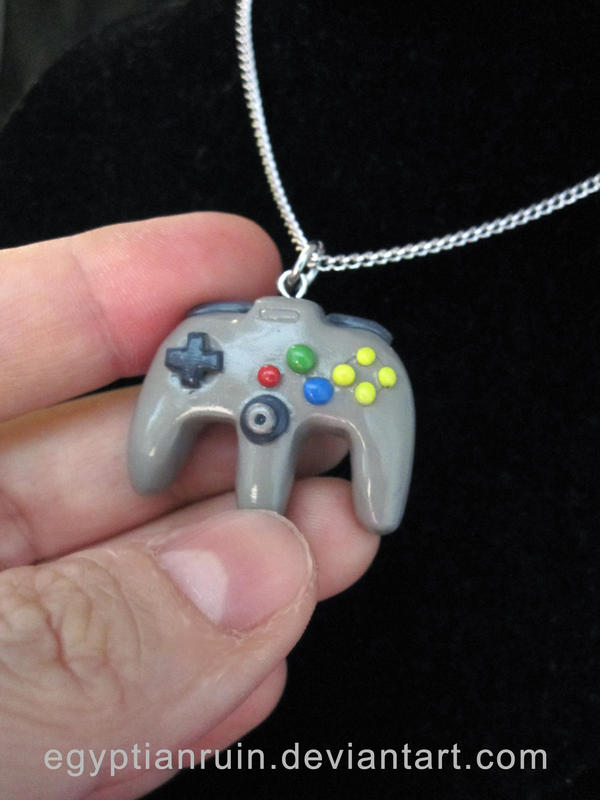 Nintendo 64 Controller Necklace by egyptianruin
