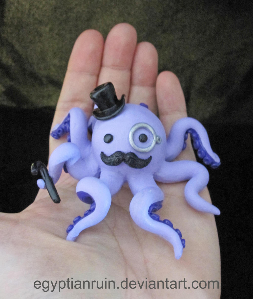 Gentleman Octopus Statue by egyptianruin