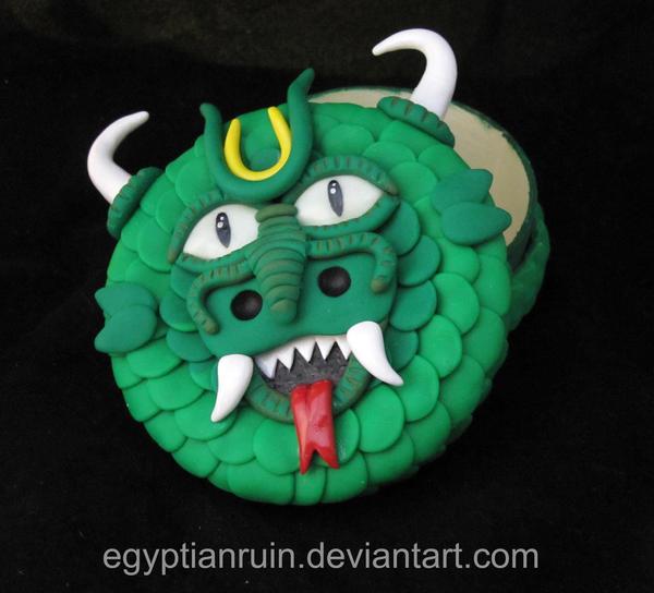 Green Dragon Dice Box 2 by egyptianruin