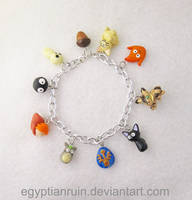 Commission: Studio Ghibli Charm Bracelet by egyptianruin