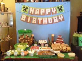 Son's 5th Birthday - Minecraft 1