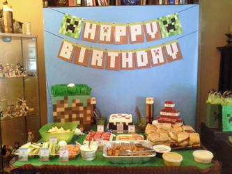 Son's 5th Birthday - Minecraft 1 by egyptianruin