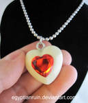 Glow in the Dark Heart Container Necklace
