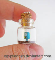 Beemo Adventure Time Bottle Necklace