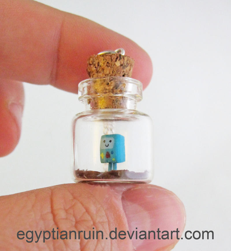 Beemo Adventure Time Bottle Necklace by egyptianruin