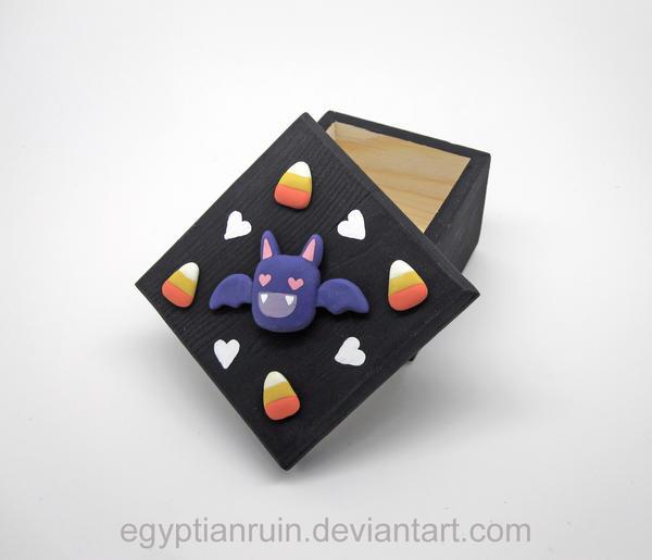 Bats Love Candy Corn Decorative Box by egyptianruin