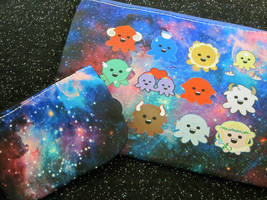 Zodiac and Celestial Octopus Bag and Coin Purse