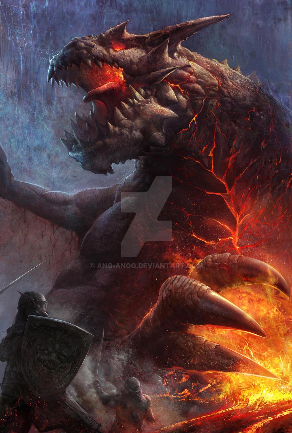 Magma Dragon ! by ANG-angg