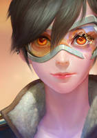 OVERWATCH-tracer portrait by ANG-angg