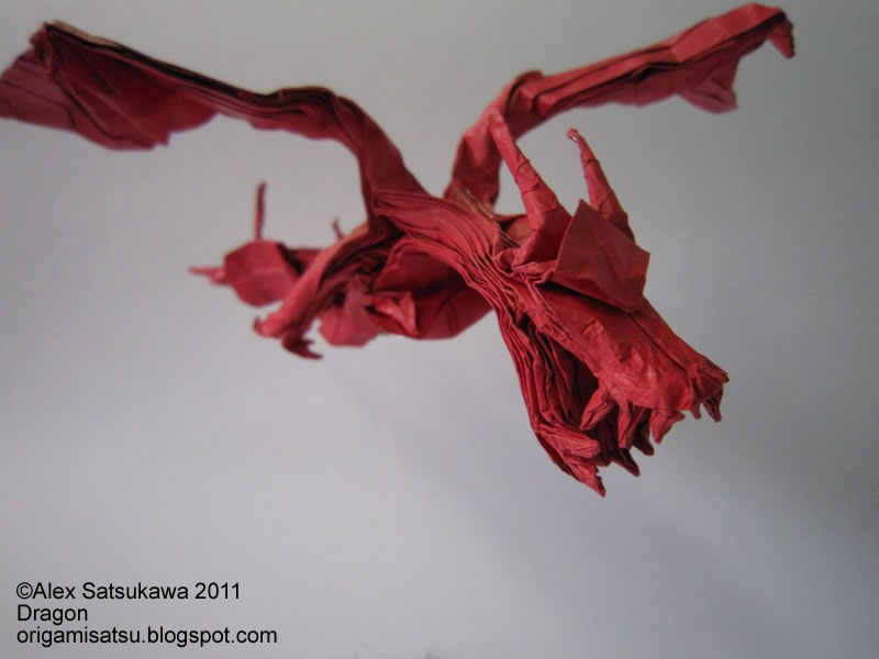 how to make a cool origami dragon