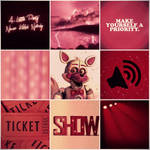 Funtime Foxy aesthetic : Savage Spectacle
