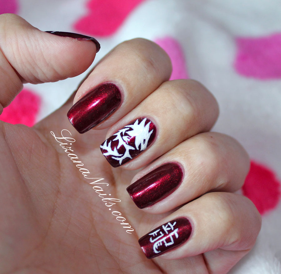 Nail art nouvel an chinois by lizananails on deviantart - Nail art nouvel an ...