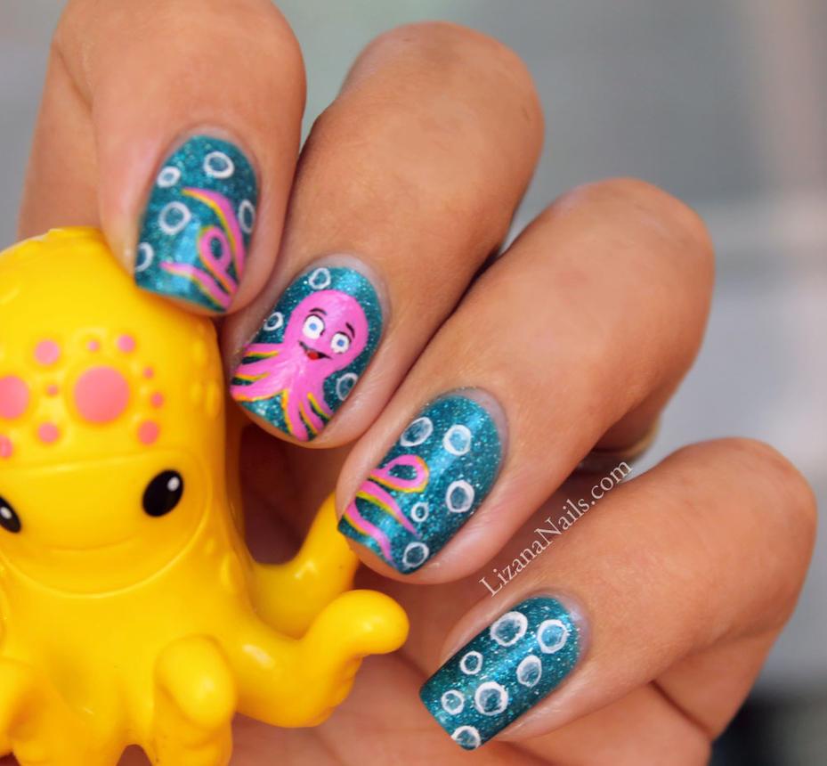 Nail art octopus by lizananails on deviantart nail art octopus by lizananails prinsesfo Image collections