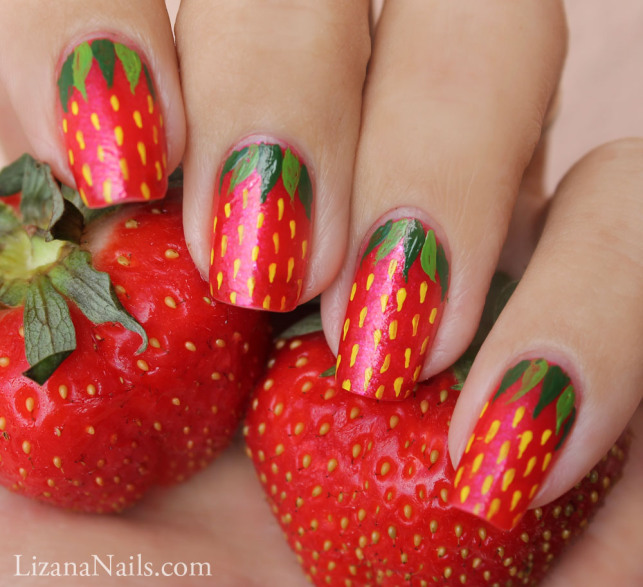 Strawberry Nail Art by Lizananails ... - Strawberry Nail Art By Lizananails On DeviantArt