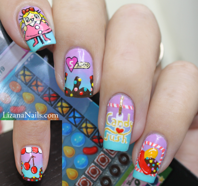 Nail Art Candy Crush by Lizananails ... - Nail Art Candy Crush By Lizananails On DeviantArt