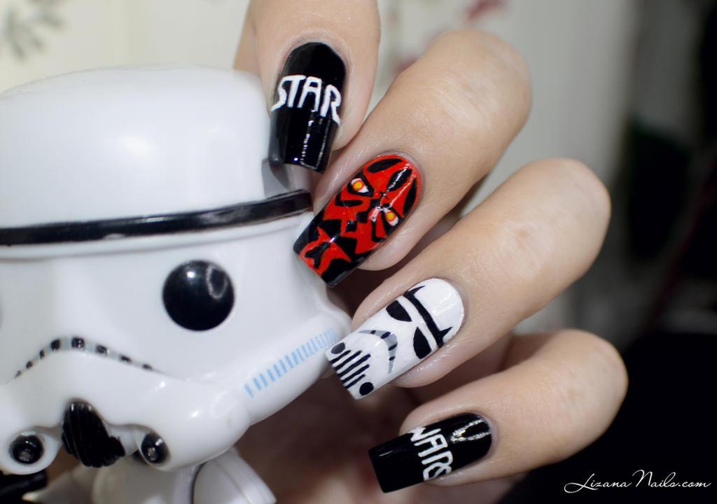 Star Wars Nail Art by Lizananails ... - Star Wars Nail Art By Lizananails On DeviantArt