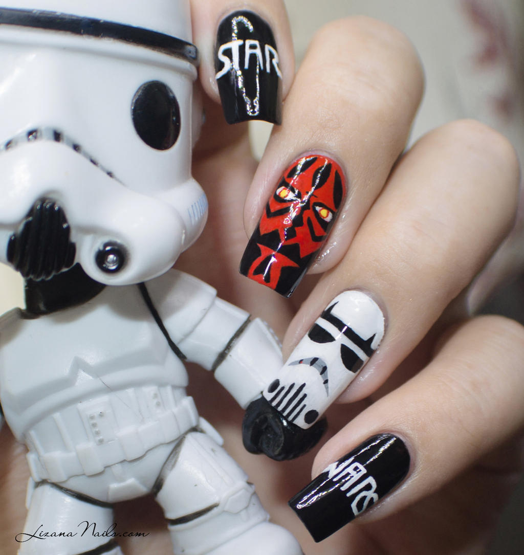 Star Wars Nail Art By Lizananails On Deviantart