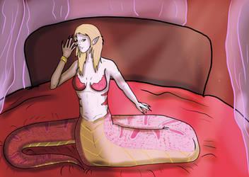 Pastel Pink Naga by shadowwolf133