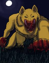 re-draw/digital version- Your the prey by shadowwolf133