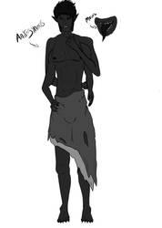 Dream art- Androgynous demon by shadowwolf133