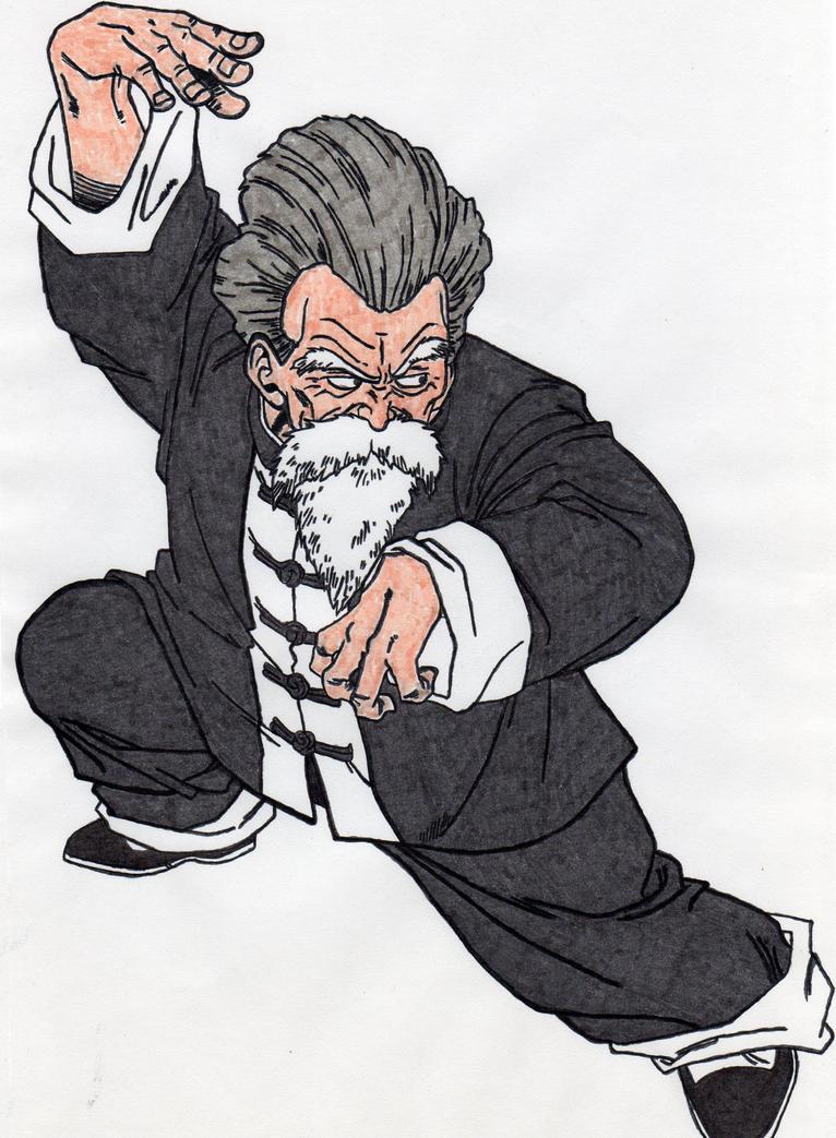 Jackie Chun (Maestro Roshi) by BardockArt