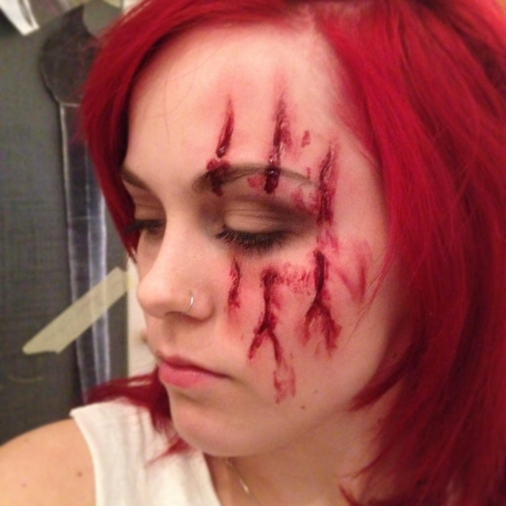 Claw Mark Sfx Makeup By RhavanielCreations On DeviantArt