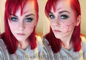 Shepard renegade scar makeup