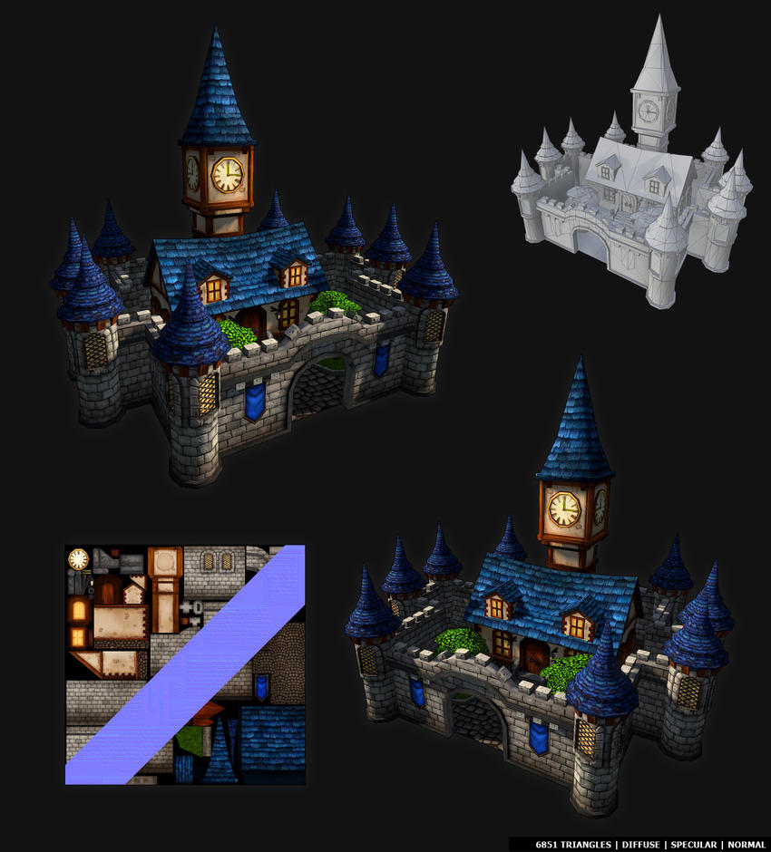 Hand painted Castle by Rav3nway