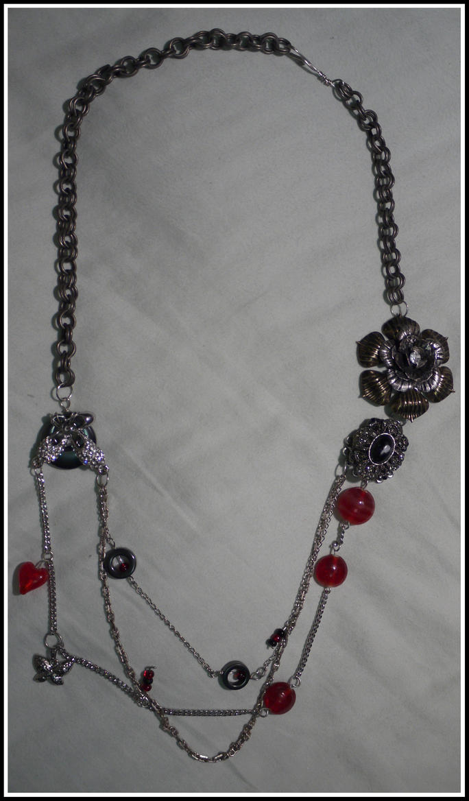 Red and black necklace by why not green on deviantart for Red black and green jewelry