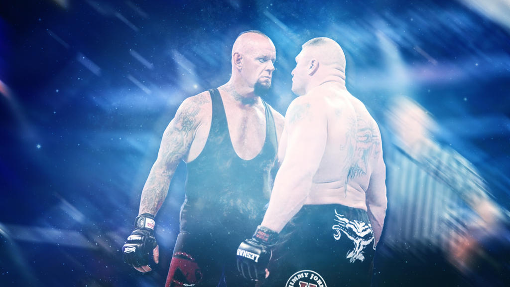WWE Wallpaper Undertaker Vs Brock Lesnar By NikDan NikDanielson