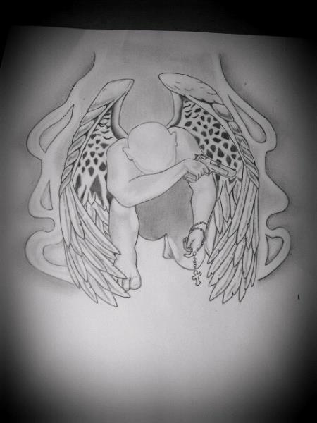 Gangster Angel Tattoo by ~Anime-KJ on deviantART
