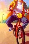 Sun and bike
