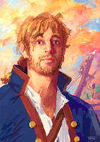 Guybrush Threepwood artrade by Tohad