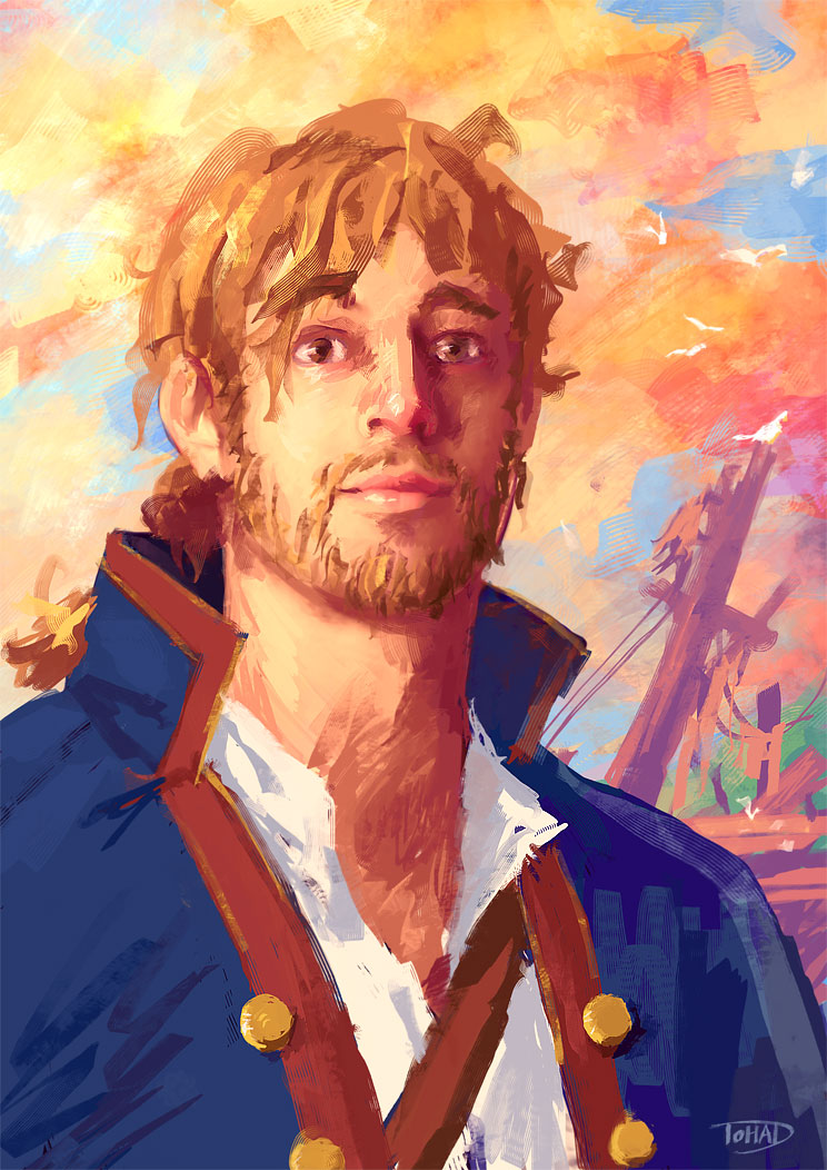 A fan painting of Guybrush Threepwood