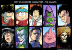 Top 10 favorites villains color