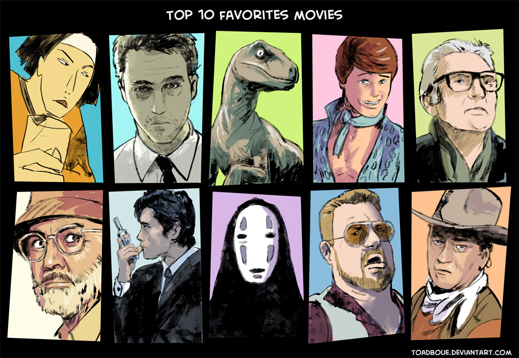 Top 10 favorites movies (color version) by Tohad