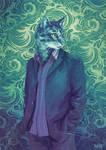 Blue Selfportrait
