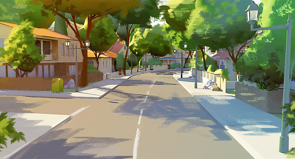 Neighborhood sketch by Tohad