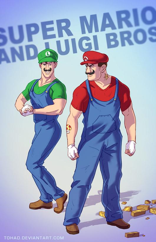 Mario and Luigi BADASS by Tohad