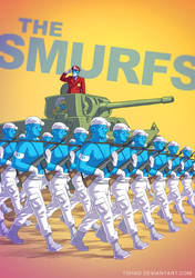 The Smurfs BADASS by Tohad