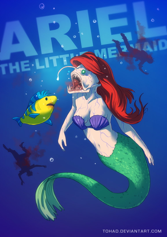 Ariel the little mermaid BADASS by Tohad